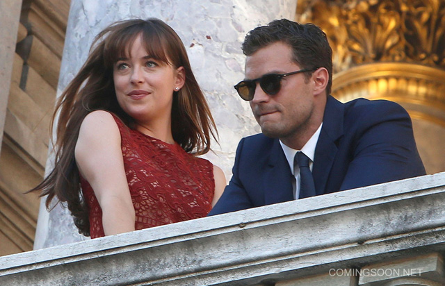 Fifty Shades Darker Set Photos: Christian & Anastasia in Paris