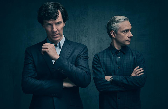 Sherlock teases new poster featuring Cumberbatch and Freeman for Series 4