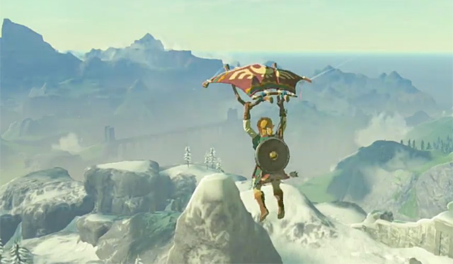 'Legend Of Zelda: Breath Of The Wild' New Gameplay Shows Link's Paraglider