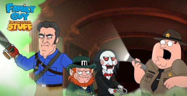 Ash vs Evil Dead, Saw and Leprechaun Invade Family Guy: The Quest for Stuff
