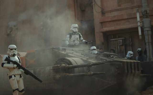 Among the new Rogue One ships is this Imperial Hovertank.