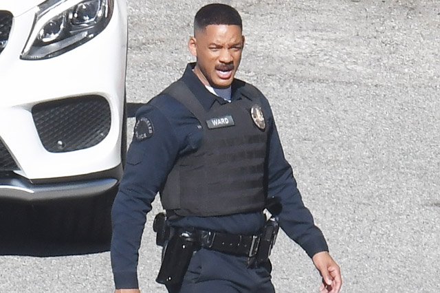 First Bright Set Photos Featuring Will Smith in Costume