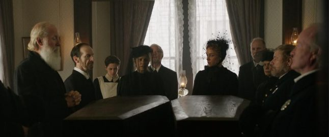 Psychosexual retelling of notorious Lizzie Borden murder case wraps production today.