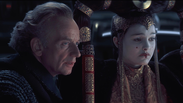 The Star Wars story begins with The Phantom Menace.