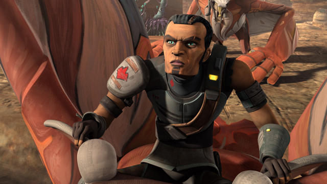 The ongoing Star Wars story introduced Saw Gerrera in The Clone Wars series.