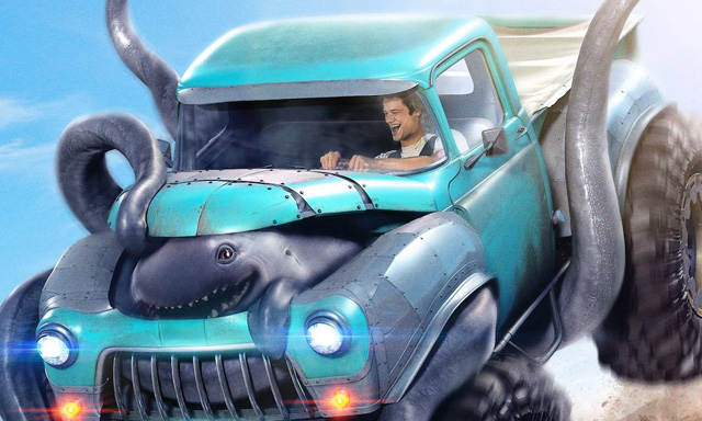 Lucas Till Has a New Engine for His Truck in an Exclusive Monster Trucks Clip