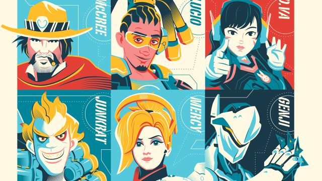 Heroes Never Die! Check Out an Exclusive Bottleneck Gallery Overwatch Print