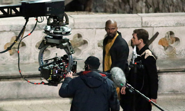 Taron Egerton and Jamie Foxx in New Robin Hood Pictures