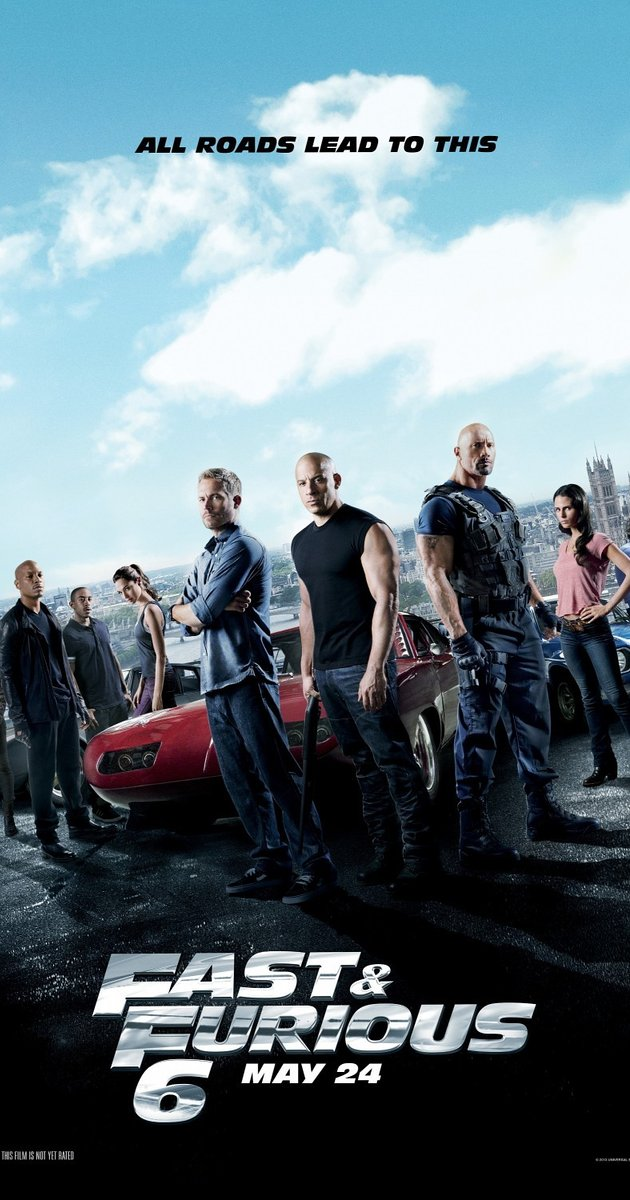The Fast and Furious franchise continues with Furious 6, aka Fast & Furious 6.