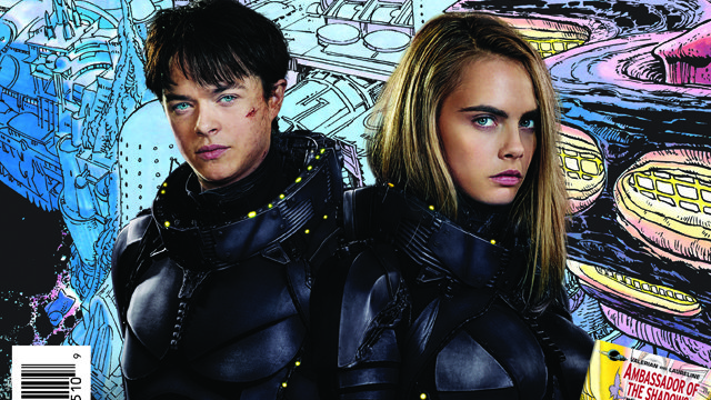Check out the Free Comic Book Day Valerian comic. It's from the original Valerian comic that inspired the film.