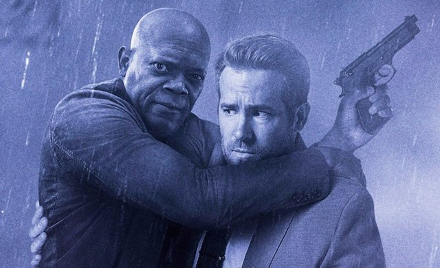 Reynolds and Jackson Get Close in The Hitman's Bodyguard Poster