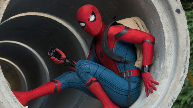 Spidey Hitches a Ride in New Homecoming Photo