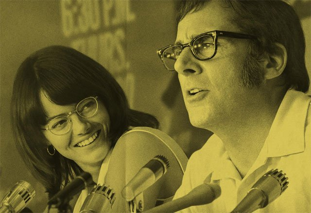 New Battle of the Sexes Poster With Stone and Carell