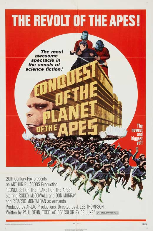 Conquest of the Planet of the Apes is the Planet of the Apes franchise entry that directly inspired Rise of the Planet of the Apes.