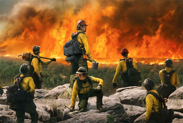 Josh Brolin Puts Out the Fire in Only the Brave Poster
