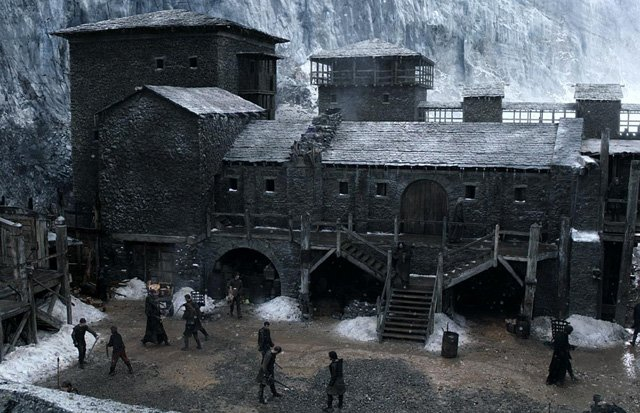 Game of Thrones Map: Castle Black at the Wall in Game of Thrones