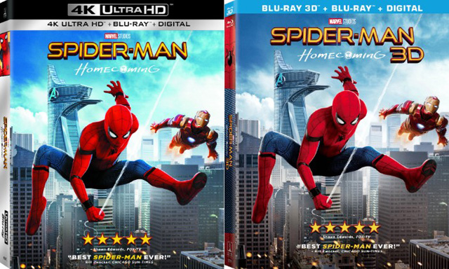 Spider-Man: Homecoming Blu-ray, 4K and Digital Details