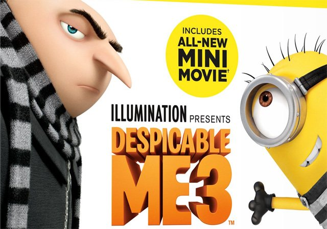 Despicable Me 3 Blu-ray, Digital and DVD Details
