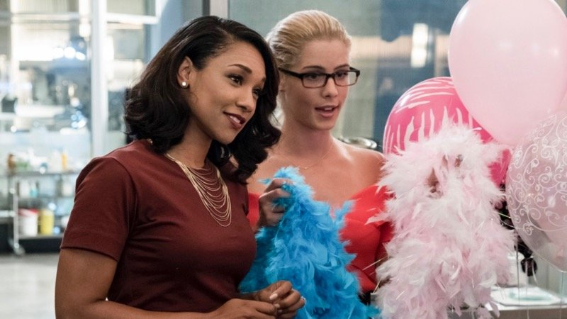 """""""Girls Night Out"""" - (8:00-9:00 p.m. ET) (TV-14, DLV) (HDTV) KATEE SACKHOFF (""""BATTLESTAR GALACTICA"""") AND EMILY BETT RICKARDS (""""ARROW"""") GUEST STAR - Having received an ominous threat from her old boss, Amunet (guest star Katee Sackhoff), Caitlin (Danielle Panabaker) fears that her past time as Killer Frost may be back to haunt her. Felicity (guest star Emily Bett Rickards) comes to Central City to help the girls celebrate Iris's (Candice Patton) bachelorette party, while Cisco (Carlos Valdes), Joe (Jesse L. Martin) and the guys take Barry out for a night on the town. Laura Belsey directed the episode written by Lauren Certo & Kristen Kim (#405). Original airdate 11/7/2017. Read more: Listings - FLASH, THE on The CW 