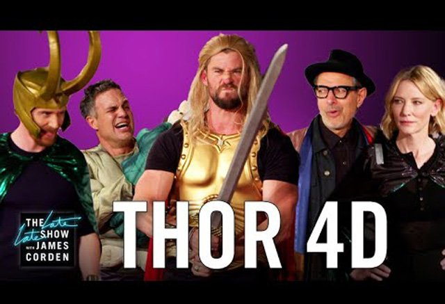 The Ragnarok Cast Does Thor 4D, Plus Two New Film Clips