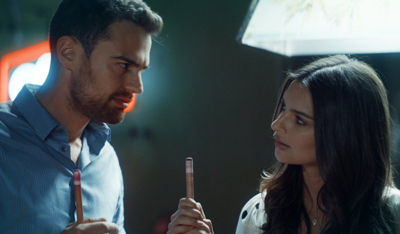 First Look at Theo James and Emily Ratajkowski in Lying and Stealing