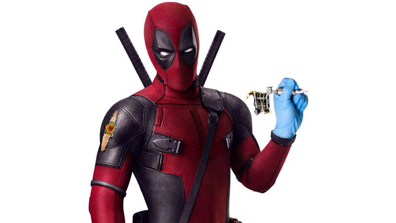 Deadpool Offering Fans Free Deadpool Tattoos at Brazil Comic Con