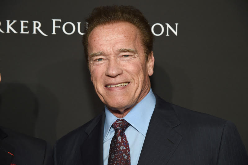Arnold Schwarzenegger Locks and Loads for Outrider Western Series by Amazon