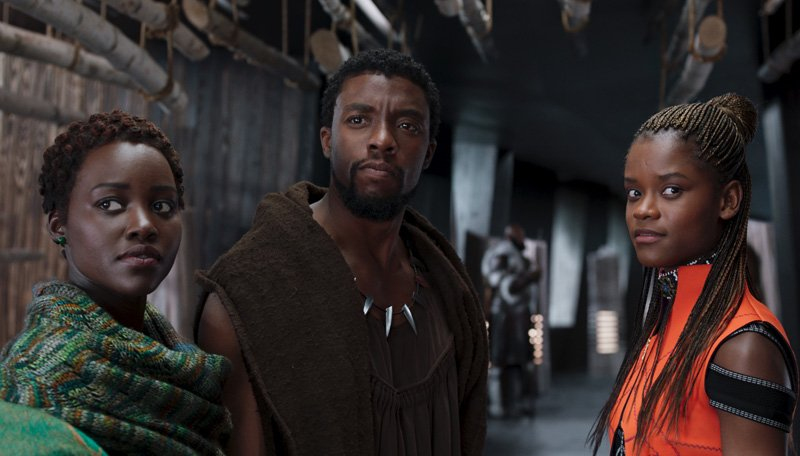 Interviews with Black Panther stars Chadwick Boseman, Lupita Nyong'o and Letitia Wright