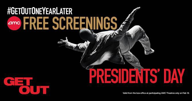 Free Get Out Screenings to Take Place on Presidents' Day!