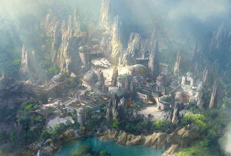 Check Out a Star Wars: Galaxy's Edge Flyover Video
