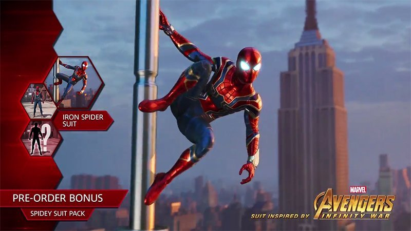 PlayStation's Spider-Man Gets Infinity War Upgrade