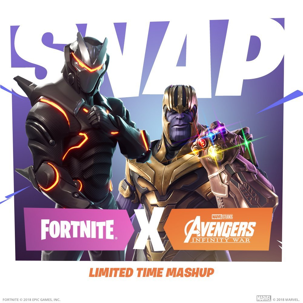 Fortnite Meets Avengers: Infinity War for Thanos Themed Mode