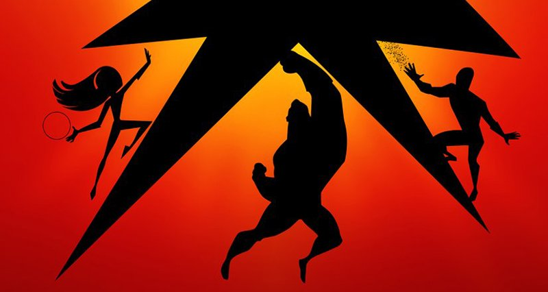 Incredibles 2 IMAX Poster Silhouettes the Heroic Family & Frozone