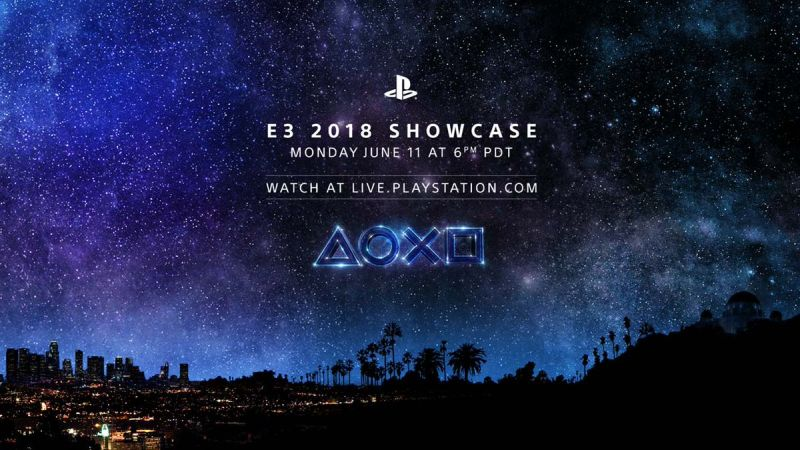 Sony Announces Plans for PlayStation Showcase at E3 2018