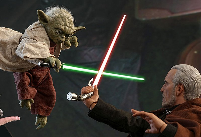New Star Wars Count Dooku vs Yoda Hot Toys Revealed