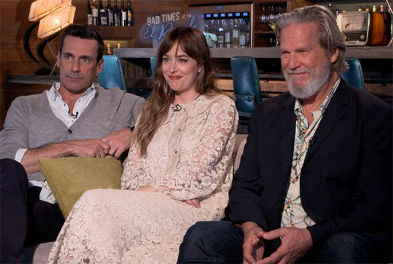 CS Video: Bridges, Johnson & Hamm Talk Bad Times at the El Royale