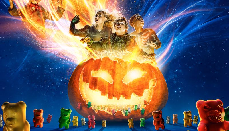 Goosebumps 2: Haunted Halloween Poster has Gummy Bears Attack