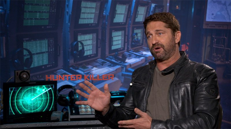 CS Video: Gerard Butler Talks Playing the Captain in Hunter Killer