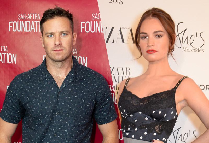 Rebecca Remake Lands Armie Hammer and Lily James to Star