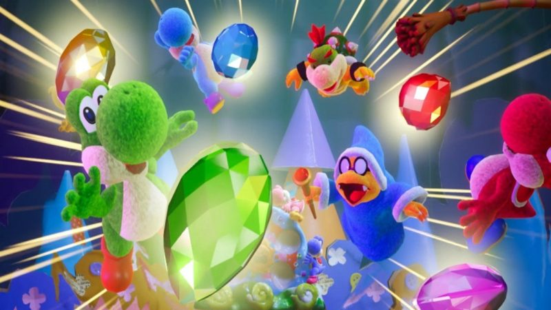 handcrafted Yoshi and Kirby games