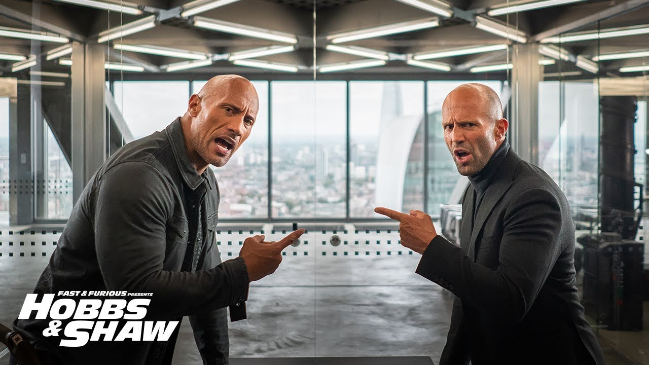 Statham & Johnson Unite in Hobbs & Shaw Super Bowl Spot