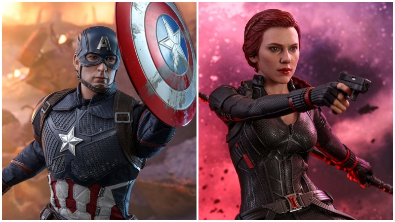Captain American and Black Widow Endgame Hot Toys Revealed