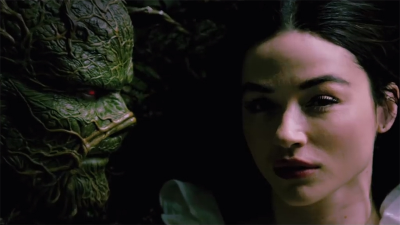 Crystal Reed Meets the Monstrous Man of Her Dreams in Swamp Thing Promo
