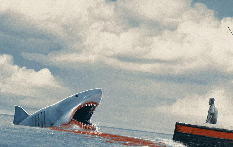 Exclusive Jaws Print for Bottleneck Gallery's Amblinesque!