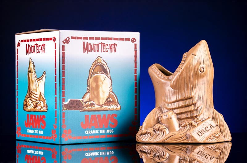 Exclusive Look at Comic-Con Mondo Jaws Tiki Mug!