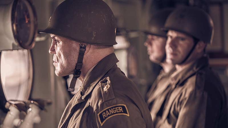 Exclusive D-Day Clip Features Randy Couture & Weston Cage Coppola in WWII film