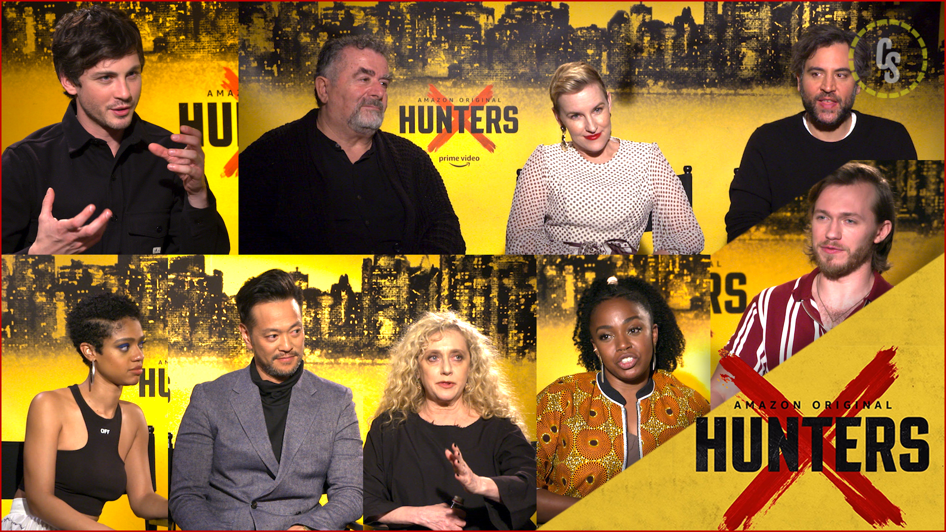 CS Video: The Hunters Cast Discuss The Dark-But-Comedic Amazon Series