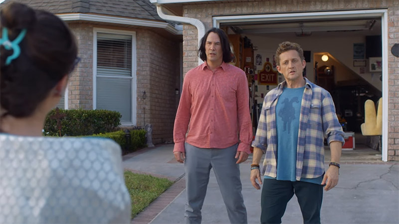 Bill & Ted Meet An Emissary From the Future in a New Face the Music Clip