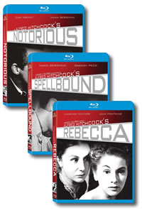 Alfred Hitchcock Blu-rays Notorious Spellbound Rebecca