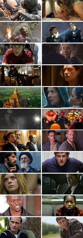 Honorable Mention : Top Ten Movies of 2012
